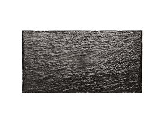 PIATTO ROCK BIG PS NERO 30X15,8 X10PZ
